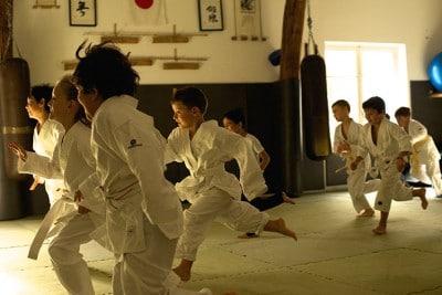 Enfants durant un cours de Karaté