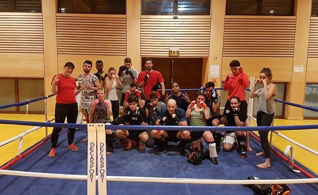 Cours de Boxe au gymnase Michelet Curial