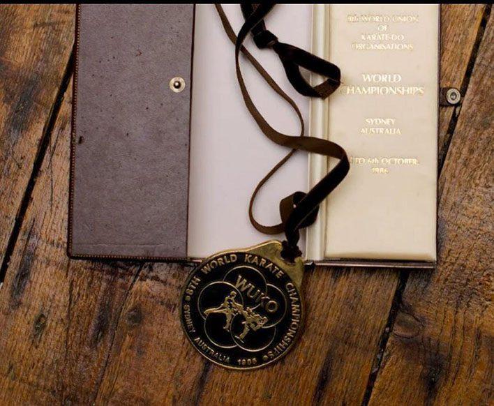 Médaille de Karaté des championnats du monde de 1988