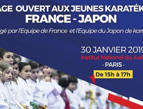 STAGE | Ouvert aux jeunes karatékas : FRANCE – JAPON