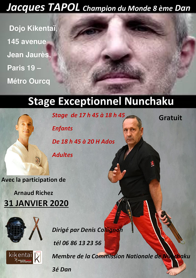 Stage Nunchaku - 31 Janvier 2020