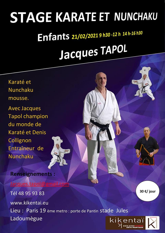 Stage Enfants Karaté et Nunchaku le 21 Février 2021